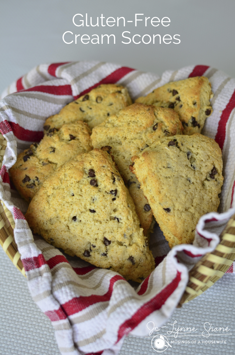 Gluten-Free Chocolate Chip Cream Scones