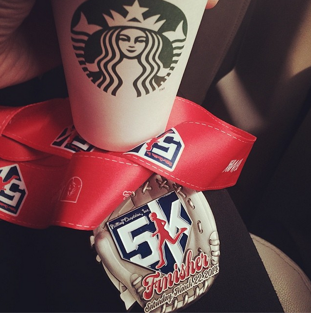 coffee and medal