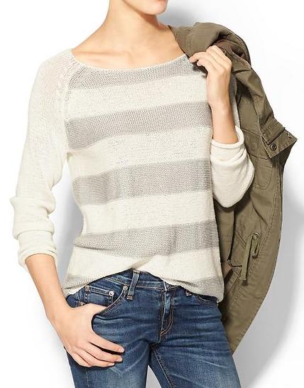 Baseball Stripe Sweater