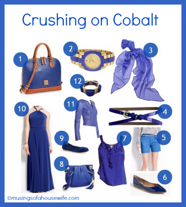 Cobalt Crush #FashionFriday at Musings of a Housewife