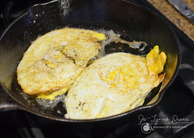 Cornbread Donut Recipe + Egg & Cheese Sandwiches Hard Fried Egg