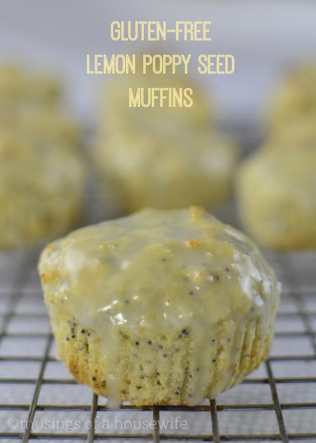 gluten-free lemon poppyseed muffin