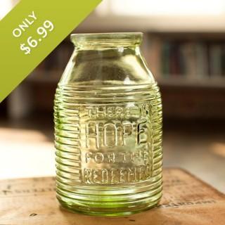 Vintage Glass Vase | Spring Gift Idea