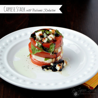 Caprese Stack with Balsamic Reduction