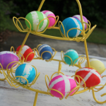 DIY Ikat Easter Eggs