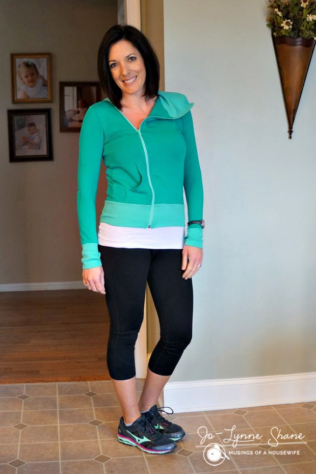 Evy's Tree Teal Zip-Up with Fabletics Leggings