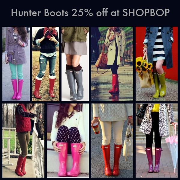 hunter boots at shopbop
