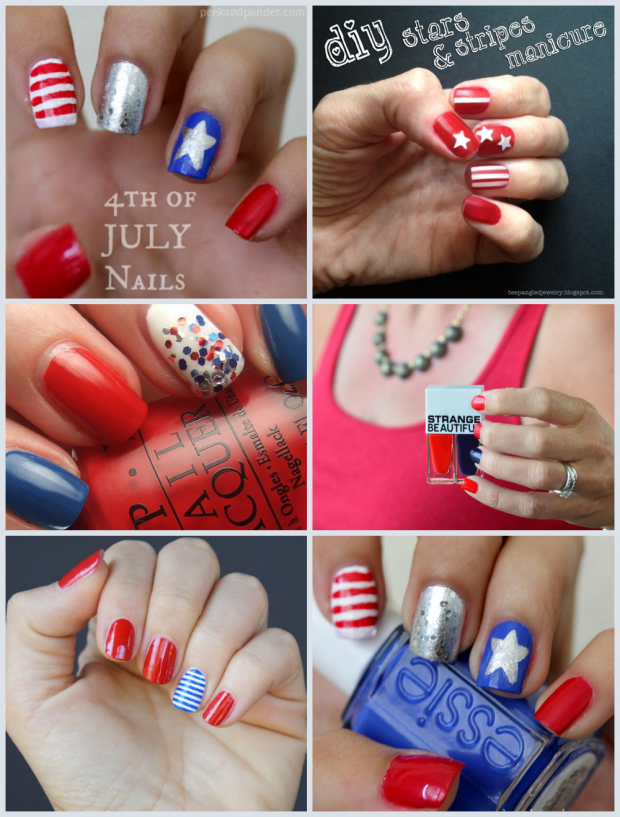 DIY Patriotic Nails