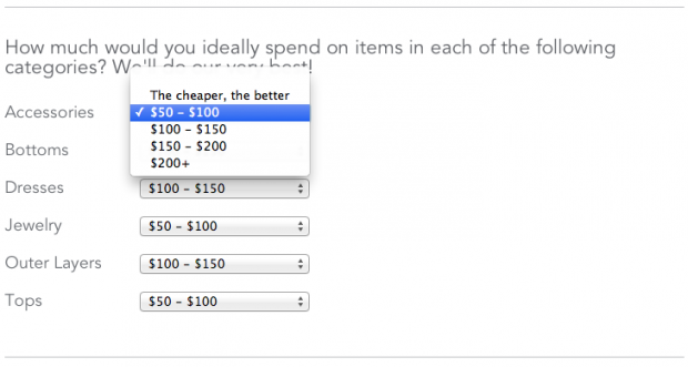 Stitch Fix budget options