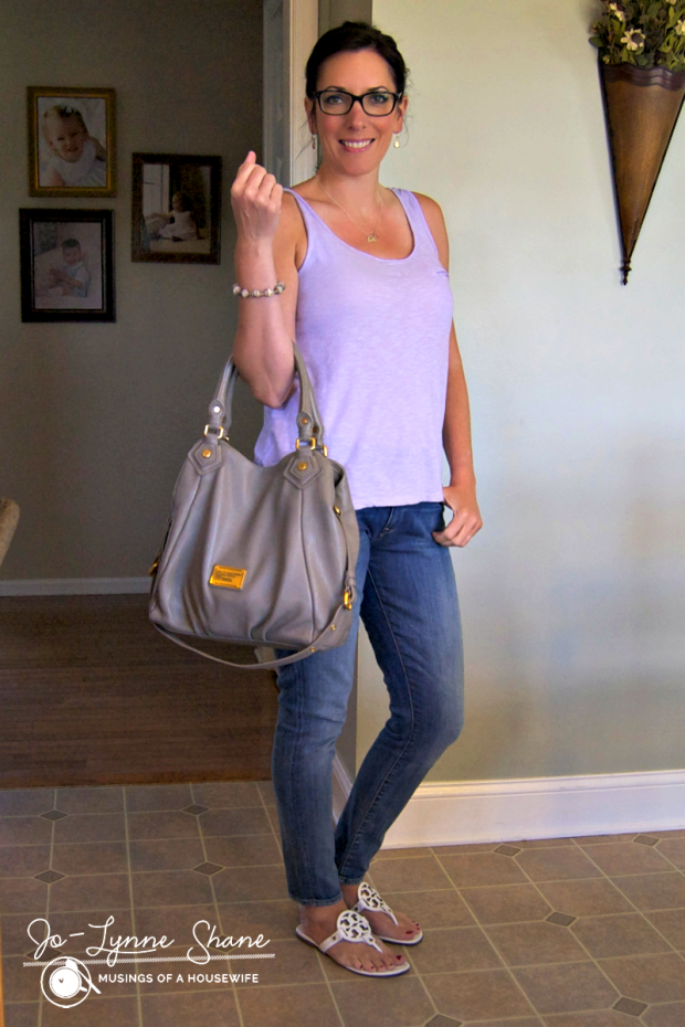lavender tank and jeans