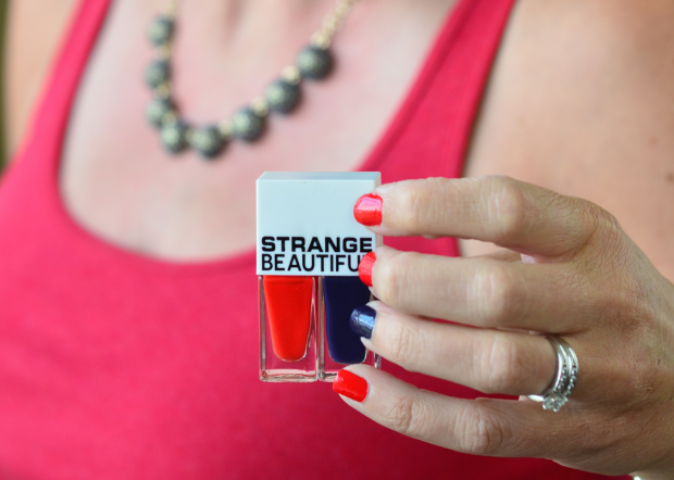 StrangeBeautiful patriotic nail polish