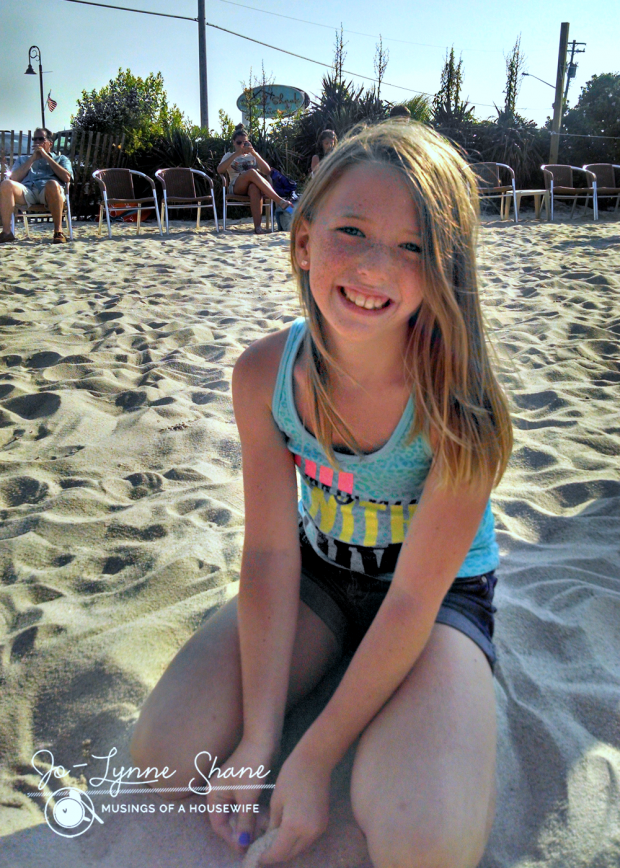 becca playing in the sand