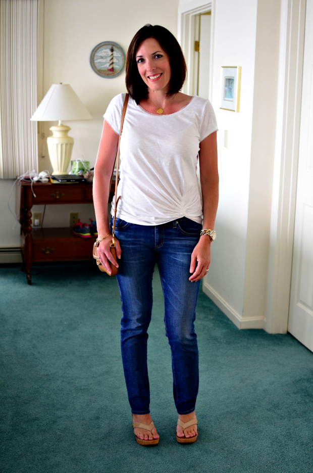 fashion over 40 | how to wear denim and white