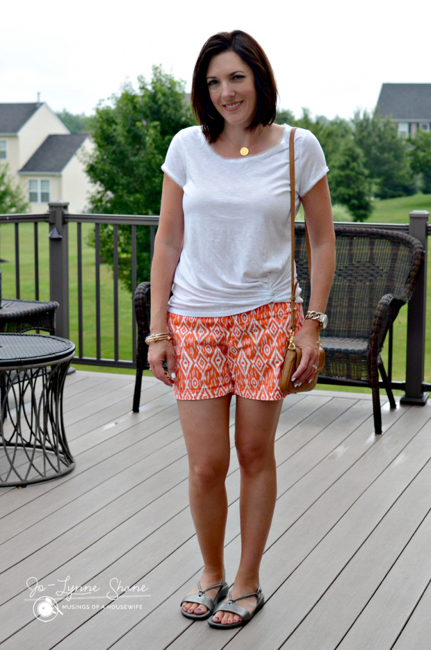 white-top-coral-shorts