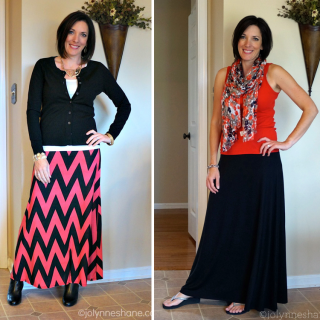how to style a maxi skirt 2 ways