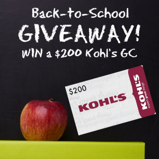 $200 Kohl's Back-To-School GIVEAWAY!!!