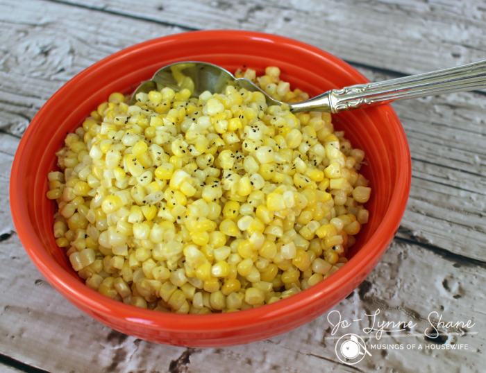 Making this corn OFF the cob is so easy, and there's no dental floss required!!!