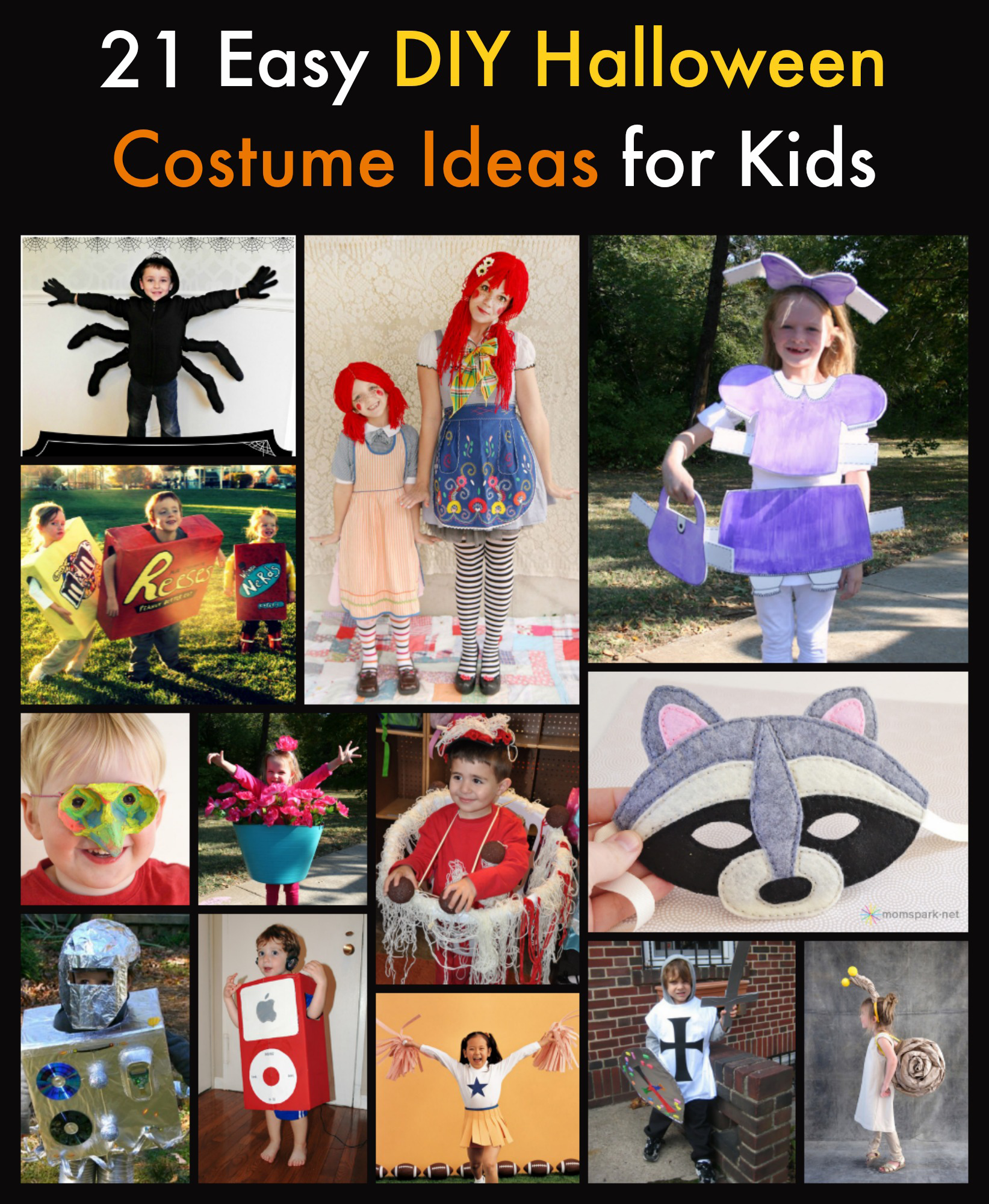 21 easy diy halloween costume ideas for kids for Diy halloween costume ideas for kids