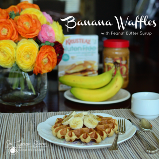 Banana-Waffles-with-Peanut-Butter-Syrup