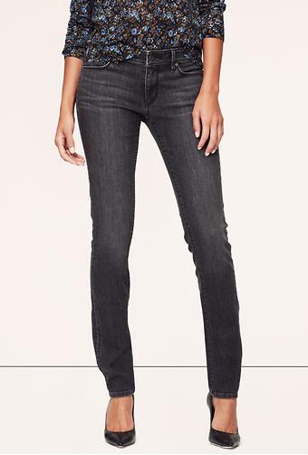 LOFT Curvy Skinny Jeans in Iron Grey