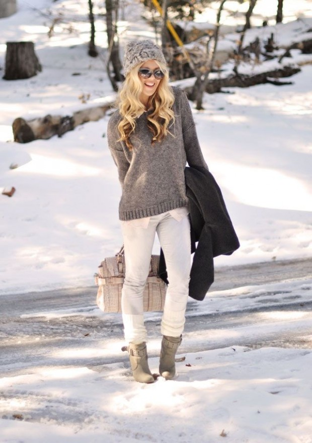 fantastic white jeans outfit with boots 2017