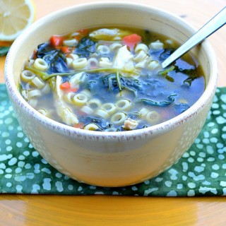 Turkey Soup with Lemon & Pasta