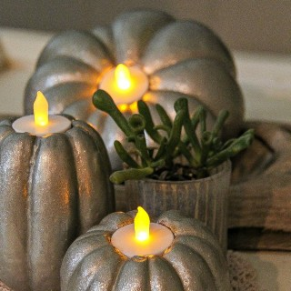 Easy Autumn Project: gourd candles