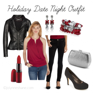 Holiday Date Night Outfit featuring White House Black Market & Rack Room Shoes