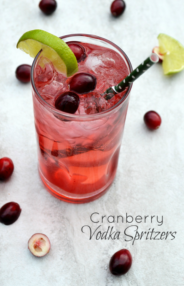 Holiday Cocktail: Cranberry Vodka Spritzers