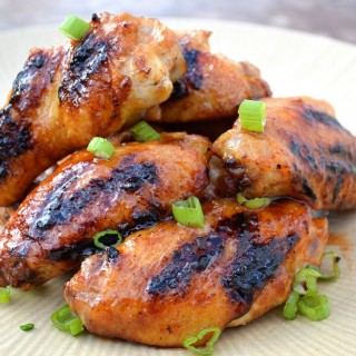 Grilled Honey Sriracha Chicken Wings