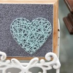 Valentines Craft: DIY String Art Heart
