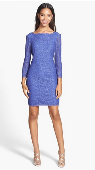 What To Wear A Winter Wedding Adrianna Papell Lace Sheath