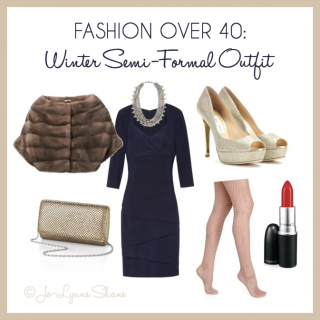 fashion over 40: winter semi-formal outfit
