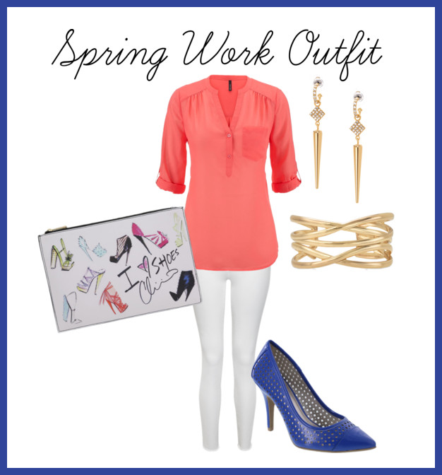 spring work outfit featuring Christiano Siriano shoes and bag