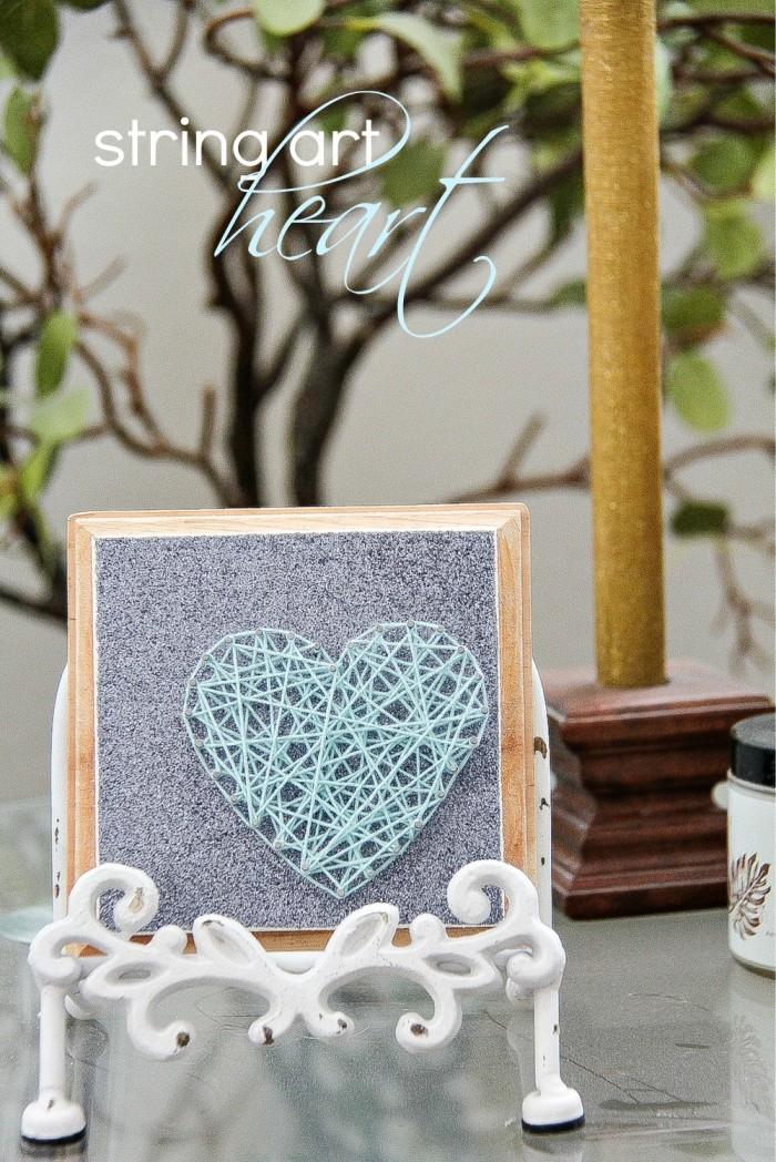 DIY String Art Heart