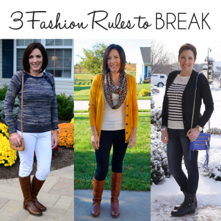 Fashion Over 40: 3 Fashion Rules to Break and How to Break Them In Style