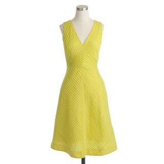 yellow jcrew dress