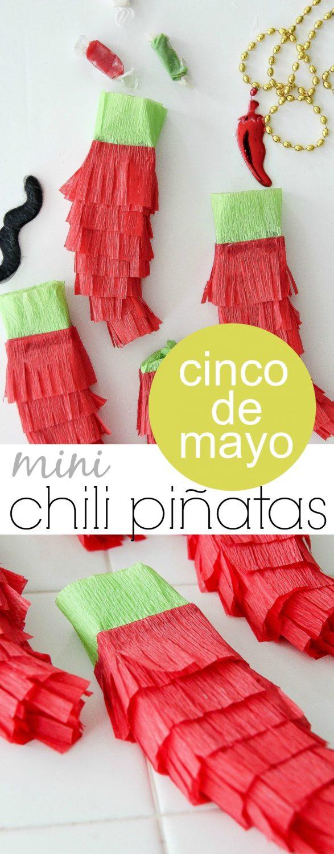 Cinco De Mayo Craft: Mini Chili Piñatas