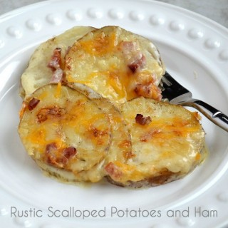 Rustic Scalloped Potatoes and Ham