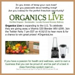 Introducing Organics Live: Franchise Opportunity & Organic Grocery Delivery