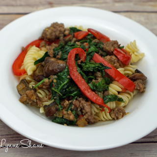 sausage-peppers-mushrooms-and-spinach-4