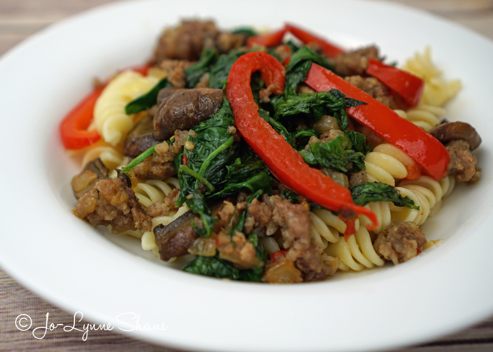 In need of a quick and easy weeknight dinner? Try my Paleo-Friendly Sausage Skillet. For those who aren't eating low-carb, serve it over pasta for a hearty meal.