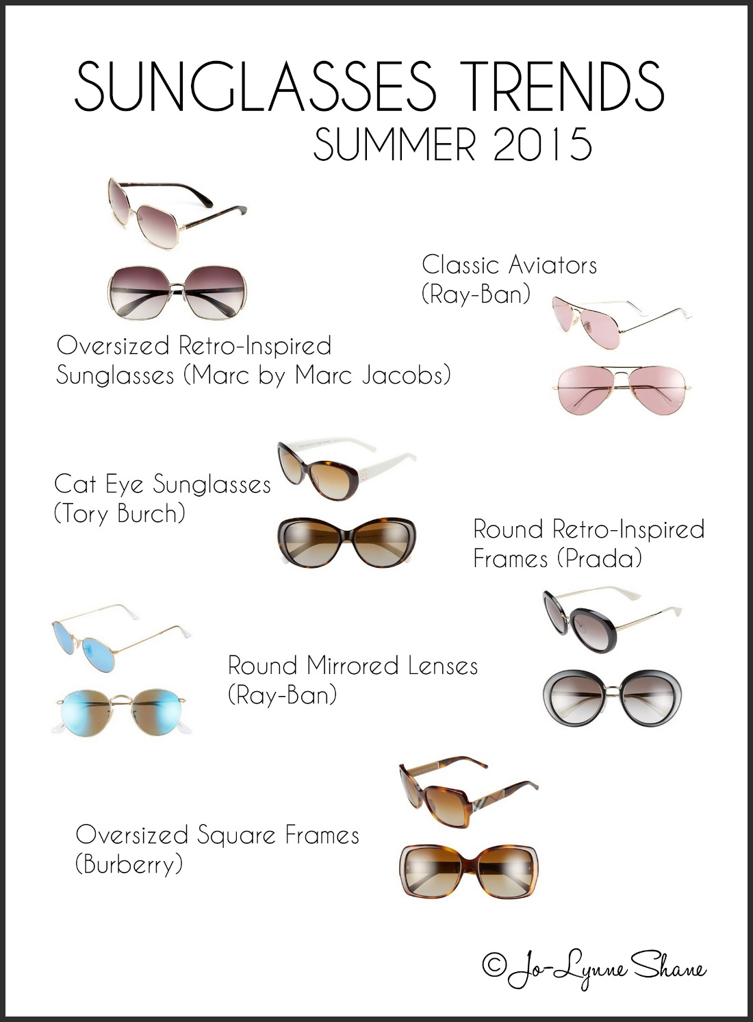 Trends in Women's Sunglasses 2015