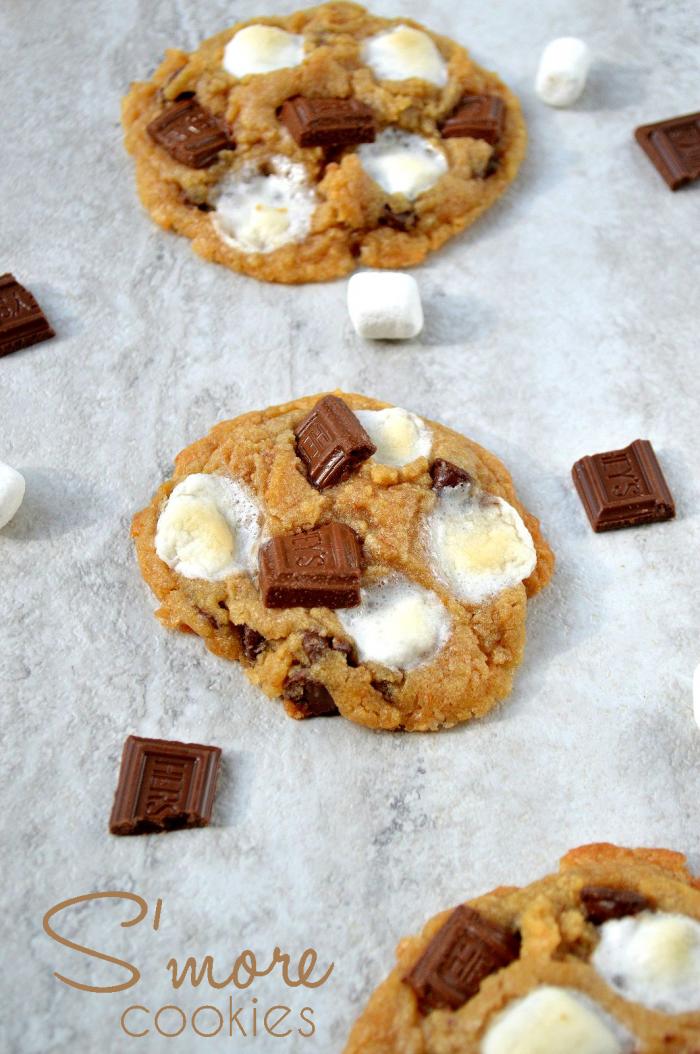 S'more Cookies + Ice Cream Sandwiches