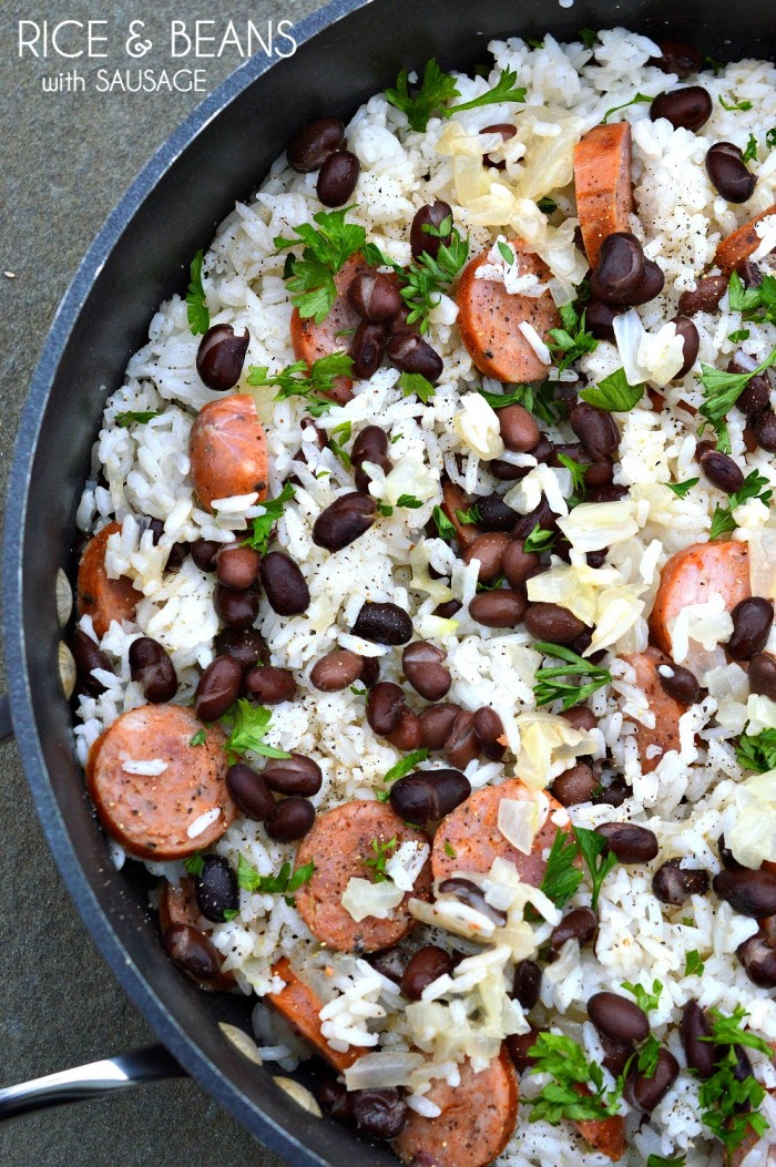 30 Minute Meals: Rice & Beans with Sausage