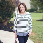 Fashion Friday: Black Stripes & Chambray