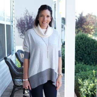 Colorblock Tunic Outfit for Fall