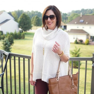 How to Wear a Tunic Sweater with Skinny Jeans