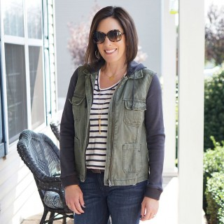Layered Utility Jacket for Fall