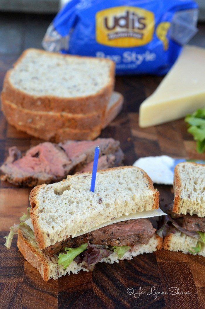 Beef Tenderloin Sandwich with Horseradish Cream on Udi's Gluten-Free ...